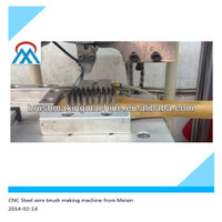 2 axis CNC automatic steel wire brush making machine work with steel wire cutted in advance china alibaba