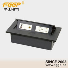 Convenience Desk Mounted Furniture Hidden Power Socket With XLR 6.35mm Stereo Jack USB Socket
