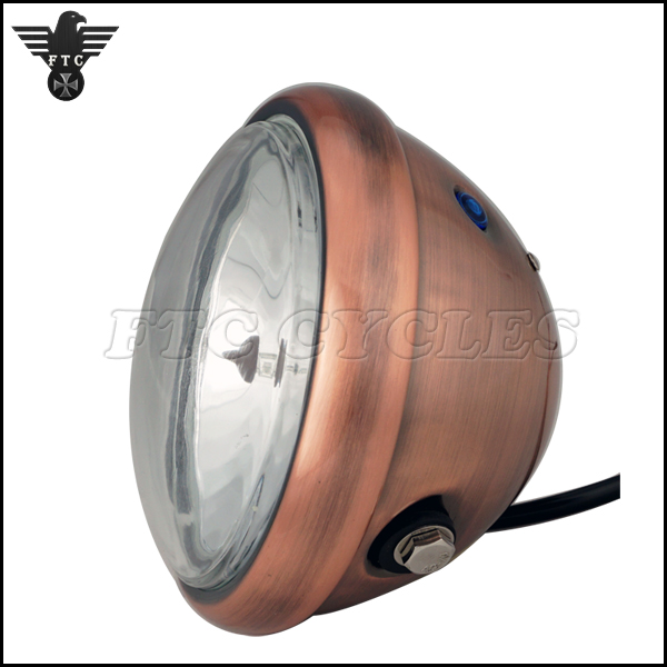 5.75'' Retro Antique Bronze Headlight for Triumph Custom Motorcycle