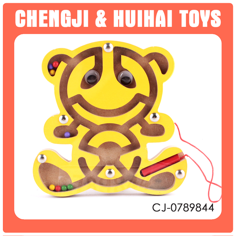 Funny intelligent toy learning set wooden bead maze toy