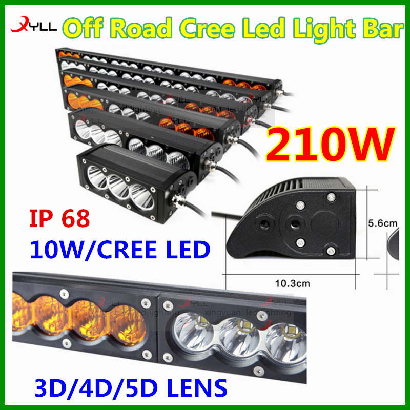 waterproof amber led spot flood beam off road driving light bar for 4x4 ,4wd, jeep