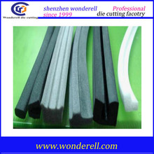 Durable sponge D ,P ,I ,E self-adhesive rubber seal strip epdm sealing for door