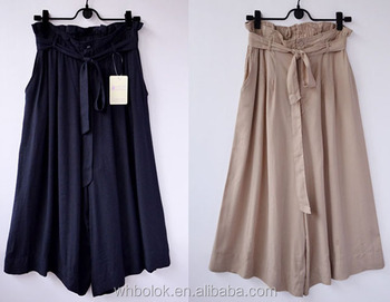 Rayon Viscose Material and Casual Pants Style ladies pantskirt summer pants OEM horse skirt design