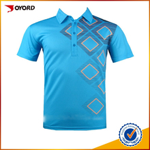 custom dry fit 100 polyester spandex mens polo golf t shirt