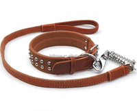 2015 fashion new coming leather dog collar &strap for strong dog