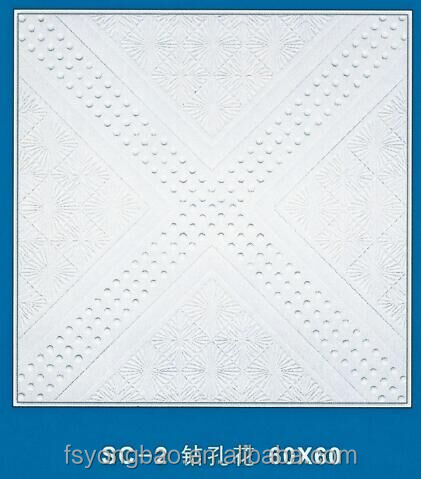 factory supply 14mm luxury ceiling tiles plaster board for hotel