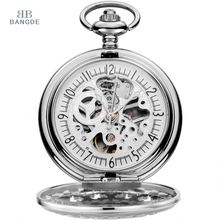 Wholesale Custom Steampunk Skeleton Mechanical Pocket Watch