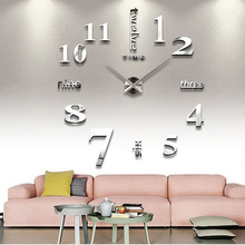 UCHOME DIY Large Wall Clock 3D Acrylic Sticker Big Size Home Office Decor 3D Wall Clock