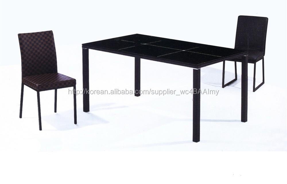 창의적이고 검은 색 우아한 금속 및 유리/ 주방 식탁 dm-003 ...