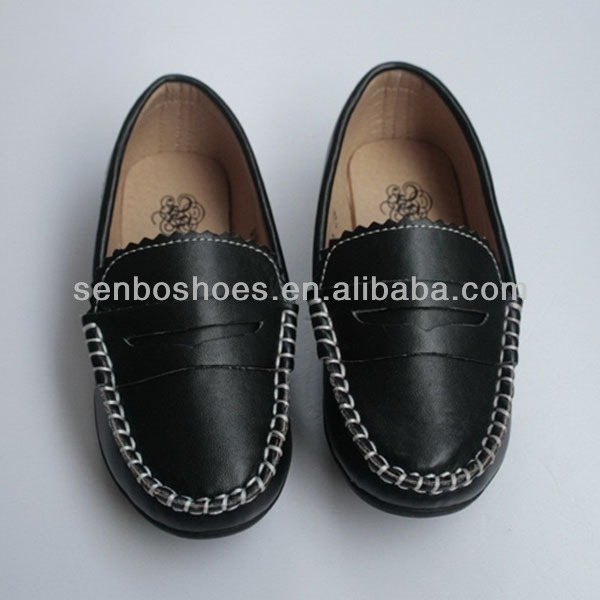 Hand-made All-matching simple leather children's shoes