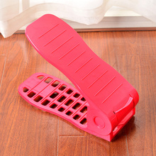 China supplier of colorful 50 pair plastic adjustable shoe rack