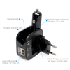 High Quality Car Accessories 2.1Amp USB Travel Charger AC Wall DC Car With Dual USB Ports For Samsung