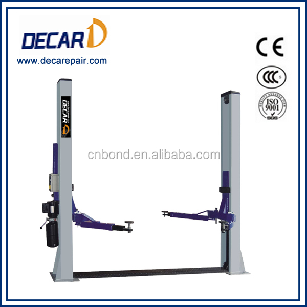 Car workshop used 2 pole car lifter for sale CE