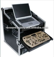 DJ combo cases for laptop/Mixer/Amplifier with wheels