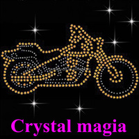 iron on rhinestone heat transfer motorcycle motifs