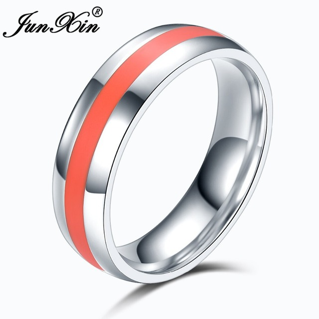 JUNXIN Size 6-13 Male Female Vintage Ring High Quality 316L Stainless Steel Rings For Men And Women Fashion Wedding Jewelry