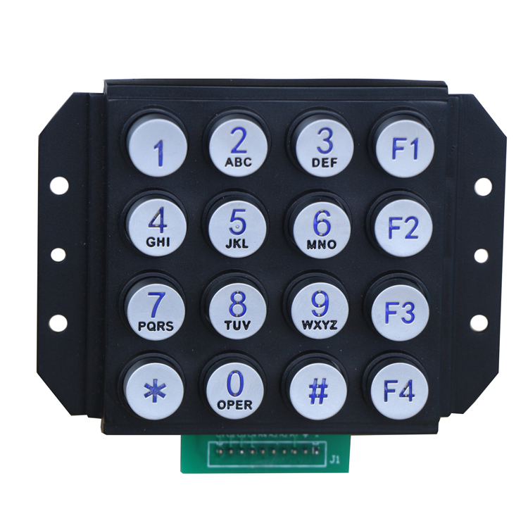 good quality strong zinc alloy illumination waterproof outdoor keypad 4x4 matrix