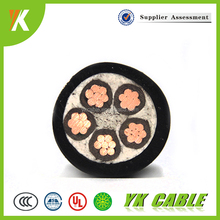 Stranded Copper Conductor flex 5cores 5 core power cable 4mm
