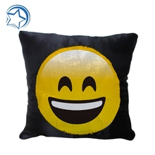 Hot sale emoji reversable mermaid sequin cushion covers