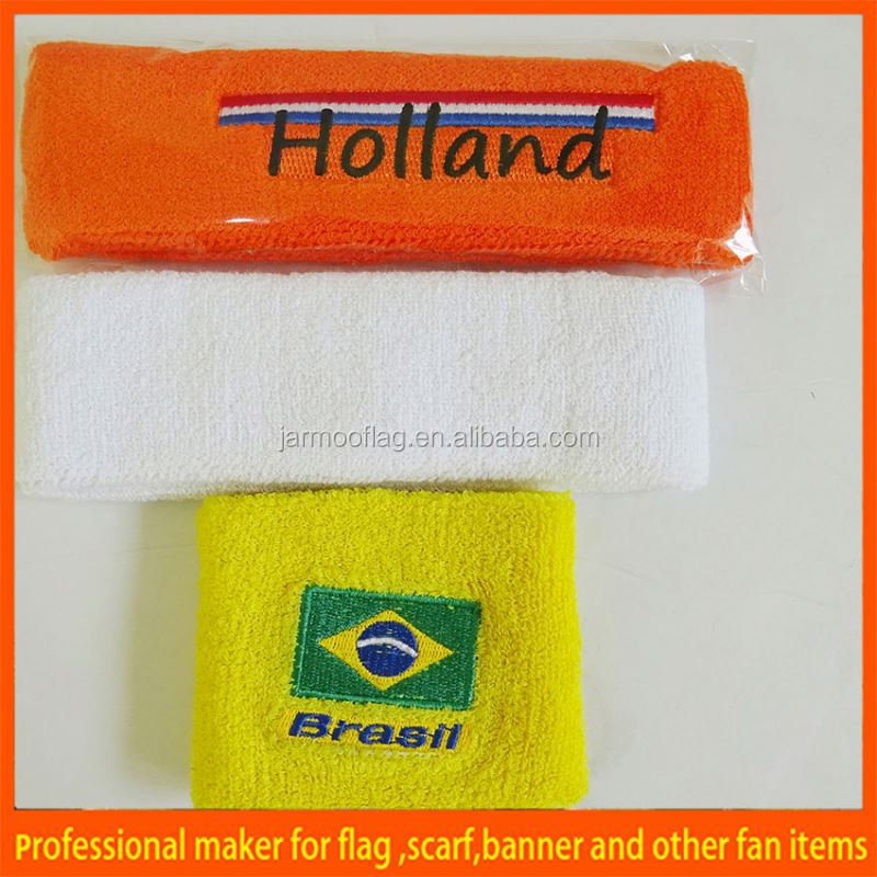 yellow brazil flag cheap sweat bands