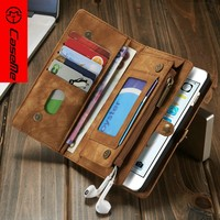 2016 Unique Leather Mobile Phone Cover Case with Stand Function/ Card Slots Flip Case for Samsung Galaxy S7 s7 Edge