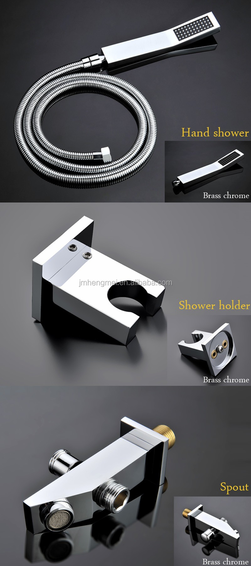 Luxury Shower Systems Ceiling Recessed Rain Shower Heads Led Thermostat Shower Faucets Set Massage Body Spray Jets