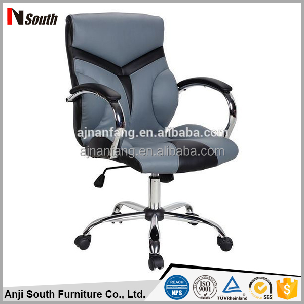 Modern style swivel stacking office chair with chromed armrest ISO9001 2000, SGS, BV