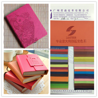 Embossed PU book cover leather when hot pressing will change color