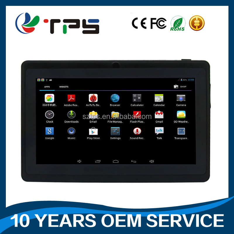 pc tablet with 1+8gb 102*600ips 0.3+2.0 camera android 4.4.2 free 3d game SOFIA 3GR pc tablet with DC jack tablet pc android 5.1