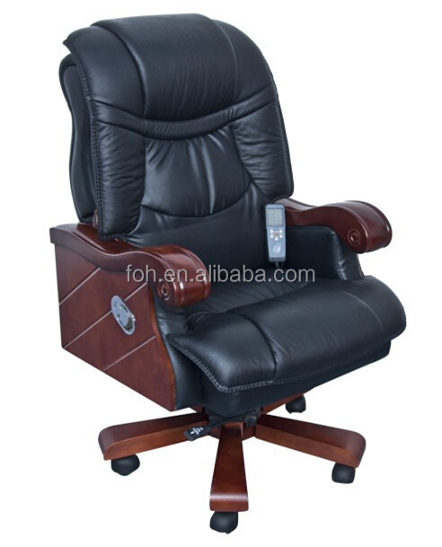 Top Quality Genuine Leather Electronic Massage Chair(FOH-1319)
