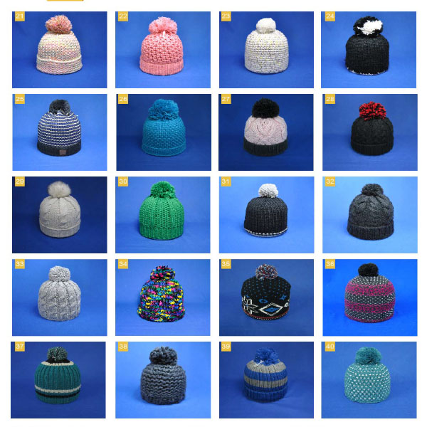 girls handmade heavy cable winter pompom beanie hat
