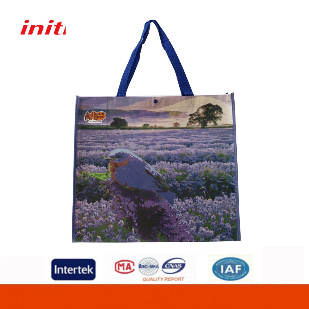 INITI Factory Sale Logo Customized PP Laminated Non Woven Tote Bag