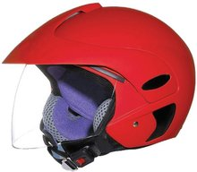 open face half face motorcycle helmet B201red DOT approval