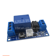 One-button bi-stable one-button start and stop self-locking relay electronic component module single chip microcomputer control