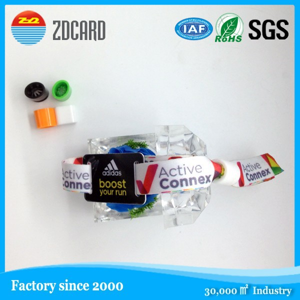 High performance long range nfc rfid wristbands metal reflective snap bands