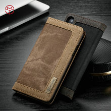 CaseMe New Coming Ultra-thin Jean PC Leather Phone Cover Case for iPhone 8