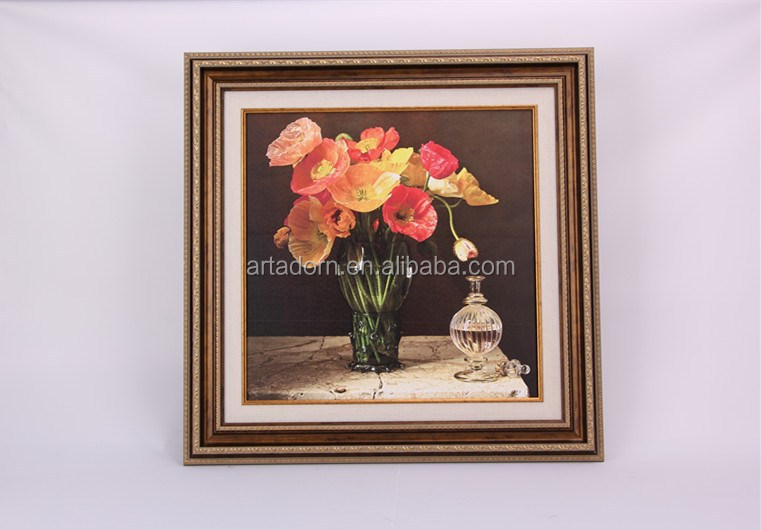 Colorful Flower Vase Abstract Oil Painting on Canvas