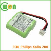Cordless phone battery for PHILIPS Xalio 200 battery 2.4V 300mAh nimh battery pack for Philips wireless phone