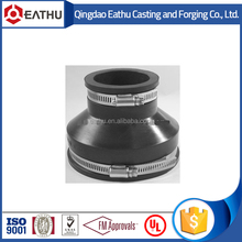 Flexible rubber pipe couplings