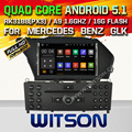 WITSON Android 5.1 CAR DVD PLAY For MERCEDES-BENZ GLK(2008-2010)/GLK X204/GLK WITH CHIPSET 1080P 16G ROM WIFI 3G INTERNET DVR