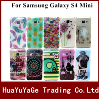 Free shipping phone cases glitter print TPU cover soft case for Samsung Galaxy S4 Mini I9190