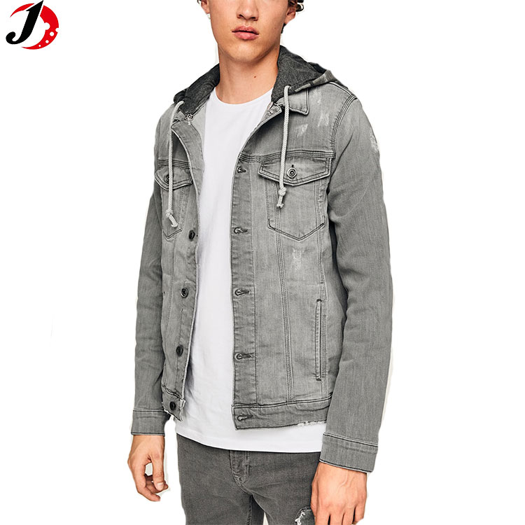 2017 Hot sale custom europe classic vintage washed jeans denim jacket men autumn outdoor jacket price