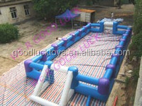 blue inflatable soap football field, inflatable water soccer pitch inflatable soccer pool