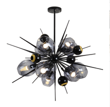 fashion modern smoky glass bubble indoor lighting decorative chandelier pendant