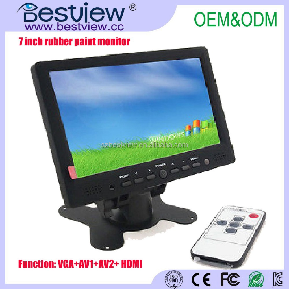 New Rubber Paint 7 inch LED HD HDMI touch screen monitor with 1080p