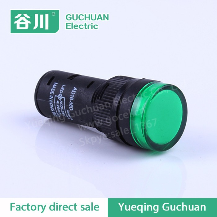 AD16-16A 16mm Green circular led light indicator for truck
