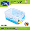 watertight 4-side lock storage used cooking oil glass silicone container for food