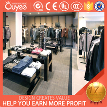 Luxury top sale clothing shops stands / winter clothes shop / wood craftsmanship clothing store showcase