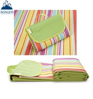 Waterproof easy to carry up folding padded straw pp beach mat