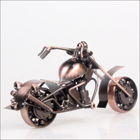 Mettle New Arrival Home Decorate Metal Craft 3d Antique Style Motorbike Autocycle Motorcycle Model